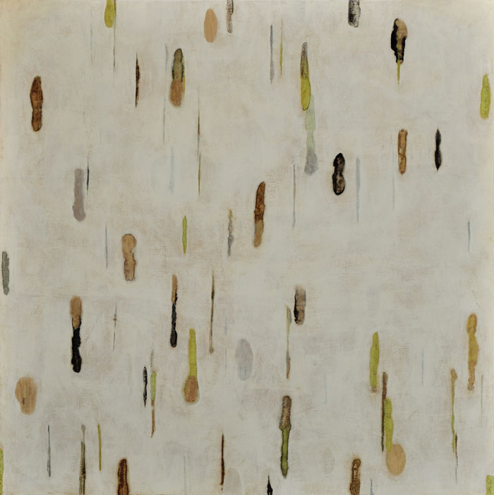 Lumenis 12, encaustic monotype on panel, 36x36