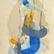 Tracey Adams - Guna SS, web, encaustic on Shikoku, 38.5×26, 2017