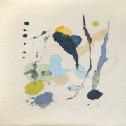 Tracey Adams - Rajas 5, encaustic on Okawara, 39×38, 2019
