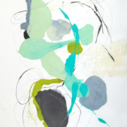 Tracey Adams - Sattva 10, encaustic and ink on Shikoku, 38.5×26, 2018