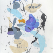 Tracey Adams - Sattva 13, encaustic and ink on Shikoku, 38.5×26, 2018