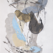 Tracey Adams - Sattva 2, encaustic on Shikoku, 38.5×26, 2017