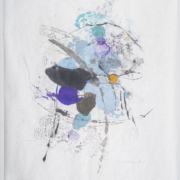 Tracey Adams - Sattva 35, Encaustic and ink on Mulberry, 32×25, 2020