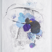 Tracey Adams -Sattva 36, Encaustic and ink on Mulberry, 32×25, 2020
