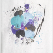 Tracey Adams - Sattva 37, Encaustic and ink on Mulberry, 32×25, 2020