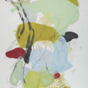 Tracey Adams - Sattva 9, encaustic and ink on Shikoku, 38×26, 2018