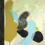 Tracey Adams - The Principle of Not Knowing, encaustic, collage, graphite on okawara on panel, 32×30, 2016