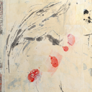 Tracey Adams - Let Silence be the Art You Practice, encaustic and collage on panel, 36x24, 2019