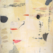 Tracey Adams - The Cure of Pain is in the Pain, encaustic and Japanese papers, 48×36, 2019