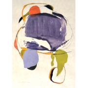 Tracey Adams - Akeru 1, encaustic and ink on Shikoku, 30×22, 2020