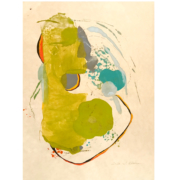 Tracey Adams - Akeru 2, encaustic and ink on Shikoku, 30×22, 2020