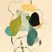 Tracey Adams - 05.04.20, Encaustic, Collage and Ink, 2020