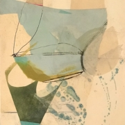 """Tracey Adams - 07.01.21, Collage, encaustic, charcoal and ink, 13""""x10"""" 2021"""