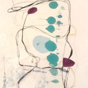 Tracey Adams - 09.04.20, Encaustic, Collage and Ink, 2020