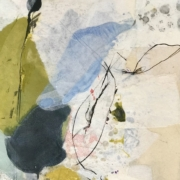 Tracey Adams - 15.01.21, Collage, encaustic, charcoal and ink, 13″x10″, 2021