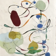 Tracey Adams - 19.04.20, Encaustic, Collage and Ink, 2020