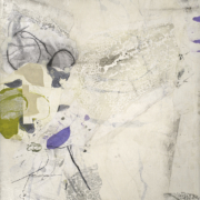 Tracey Adams - Before the Summer Rain, Collage, charcoal, encaustic, graphite and ink on panel, 40×30, 2020