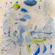 Tracey Adams - The Timeless Present - Encaustic and collage on panel, 46×42, 2020