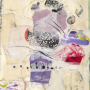 Tracey Adams - Anything You Lose Comes Round in a Different Form, Collage, Encaustic, charcoal and graphit on panel, 48×36, 2021