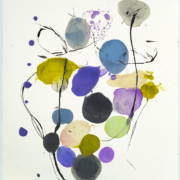 Tracey Adams - Blom 2 web, encaustic and ink on Rives, 19×13, 2021