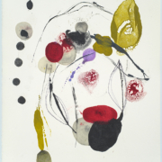Tracey Adams - Blom 4 web, encaustic and ink on Rives, 19×13, 2021